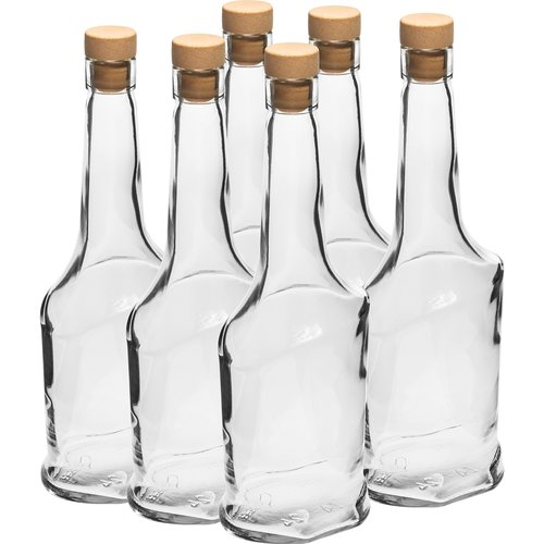 500ml glass bottle with t-cork, 6 pcs.  - 1