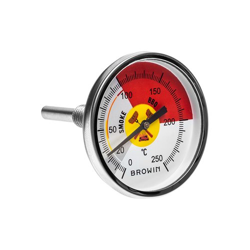 "LARGE 4/"" Stainless Steel Gourmet Temperature Thermometer Gauge Grill Smoker BBQ"