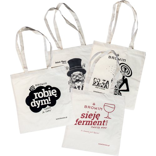 Cotton bags with a print - set of 10  - 1