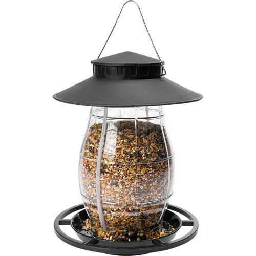 Plastic bird feeder - 21x21x27cm, black - 2