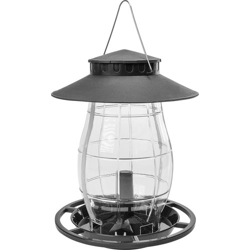 Plastic bird feeder - 21x21x27cm, black  - 1