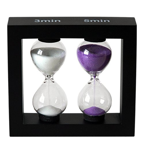 Sand timer / hourglass 3 and 5 min - 2
