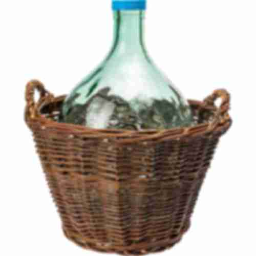 10l demijohn in wicker basket