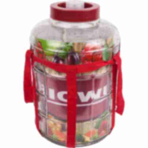 15l gallon / glass carboy with nylon straps and plastic cap for wine making and preserving