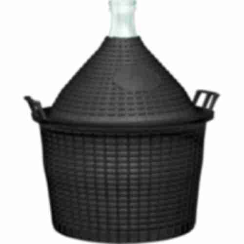 15l narrow neck demijohn in plastic basket Ø57/40 mm
