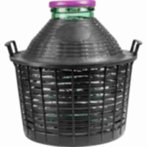 20l wide neck demijohn in plastic basket Ø138/116 mm