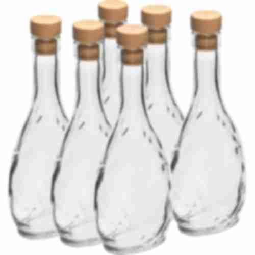 250ml glass bottle Herbowa with a synthetic cork - 6 pcs.