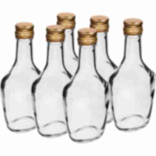 250ml glass bottle with screw cap, 6 pcs.