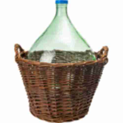 25l demijohn in wicker basket