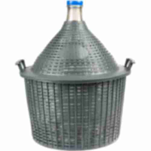 25l narrow neck demijohn in plastic basket Ø57/40 mm