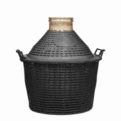 25l wide neck demijohn in plastic basket Ø138/116 mm