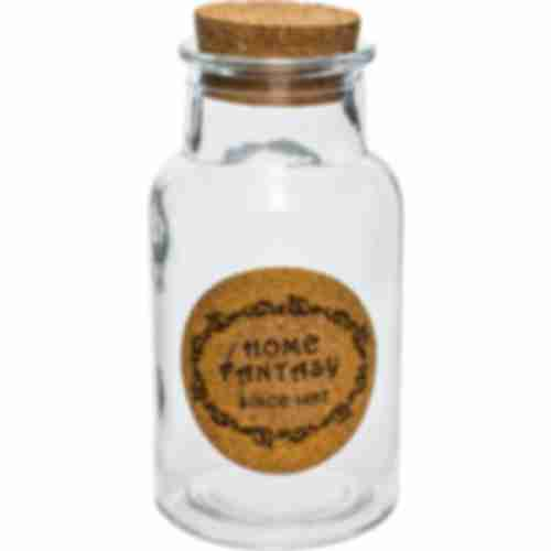 """280 ml glass jar """"Home Fantasy""""  with cork"""