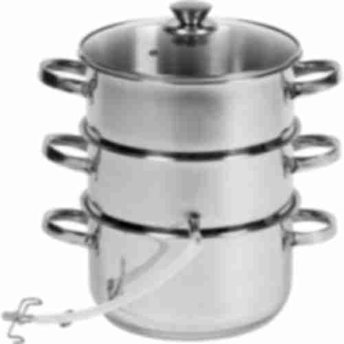 5,2l Stainless steel steam juicer with setam cooker