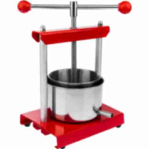 5,3l stainless steel fruit press Red Apple