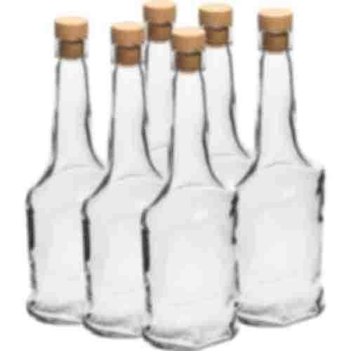 500ml glass bottle with t-cork, 6 pcs.