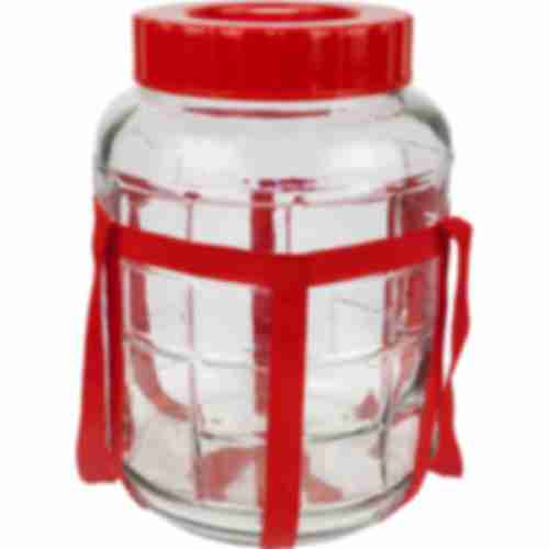 5l gallon / glass carboy with nylon straps and plastic cap for wine making and preserving