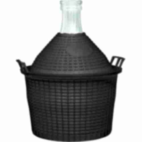 5l narrow neck demijohn in plastic basket Ø51/40 mm