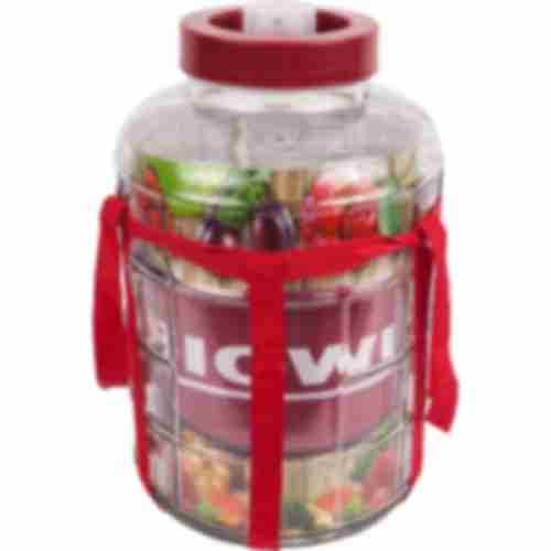 8l gallon / glass carboy with nylon straps and plastic cap for wine making and preserving