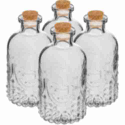 A set of bottles with corks,  240 mL - 4 pcs
