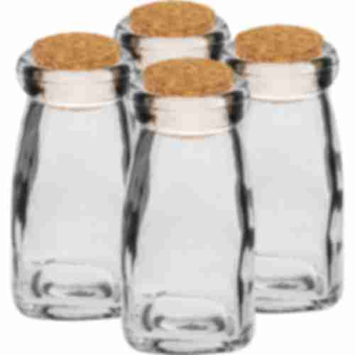 A set of bottles with corks,  90 mL - 4 pcs