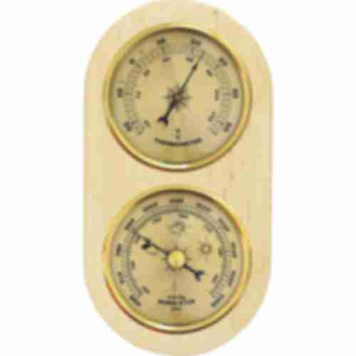 Barometer/thermometer (gold clocks)