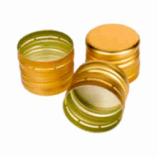 Bottle cap fi31,5/24 - gold - 6pcs