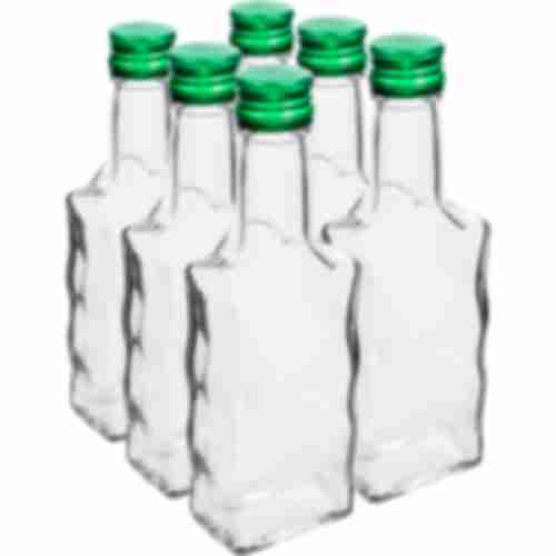Bottle Monastery 200ml, cap, white - 6pcs.