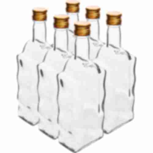 Bottle Monastery 500ml, cap, white - 6pcs.