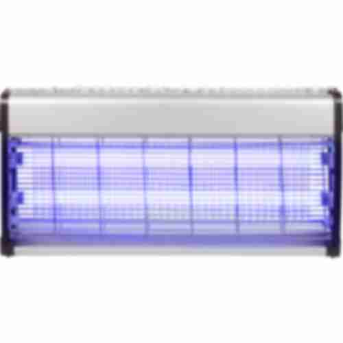 Bug zapper / insect trap lamp, 40W, 64cm, silver and black colour