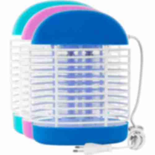 Bug zapper / insect trap lamp 6W , 24cm , mix of colours
