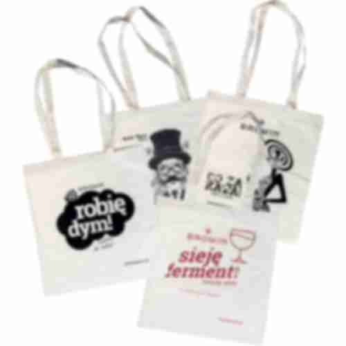 Cotton bags with a print - set of 10
