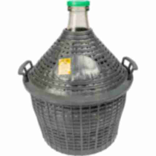 Demijohn for wine in plastic basket 10 L