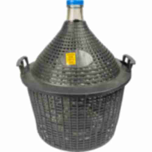 Demijohn for wine in plastic basket 25 L
