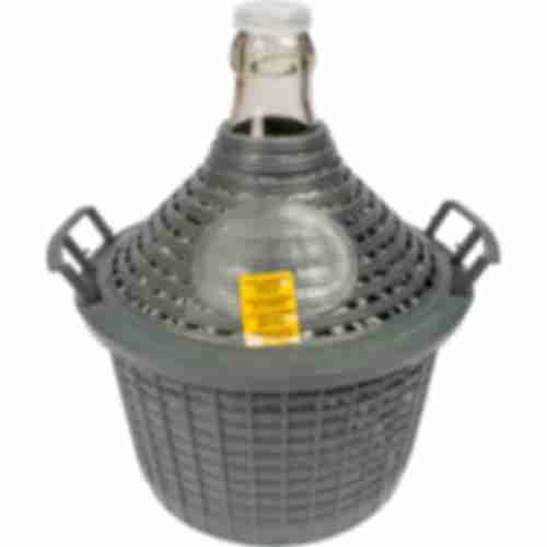 Demijohn for wine in plastic basket 5 L