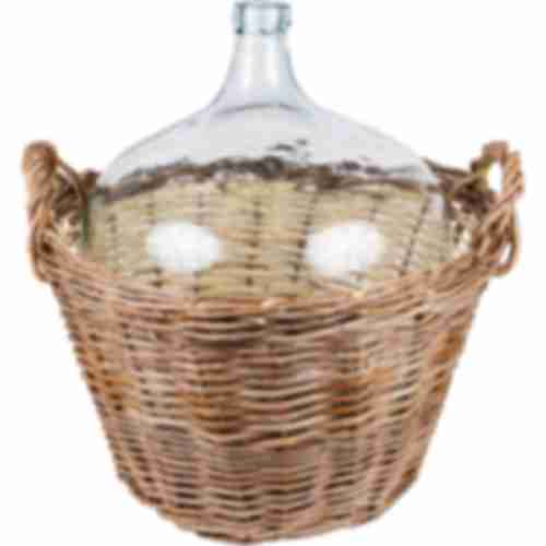 Demijohn in wicker 50 L