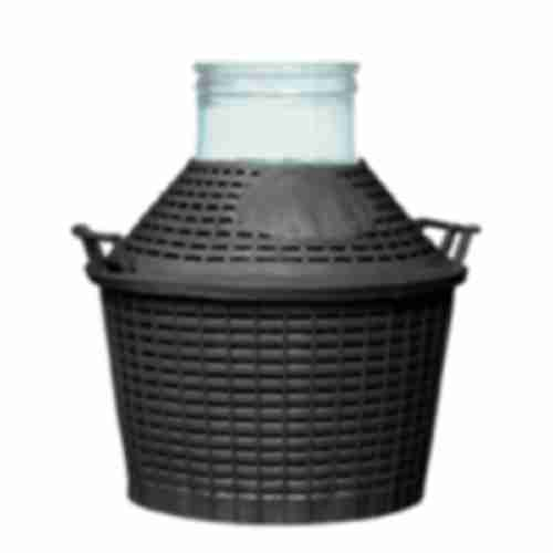 Demijohn with plastic basket 20 L