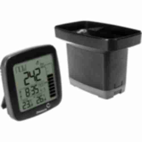 Electronic weather station with rain gauge