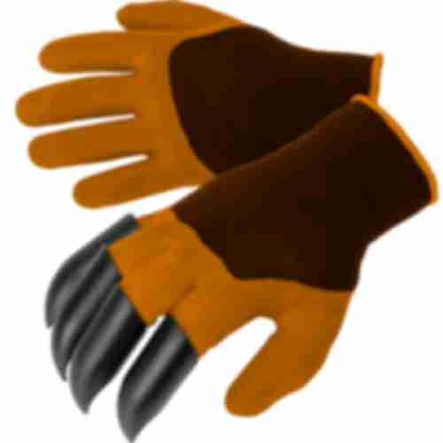 Gardening gloves with claws – orange