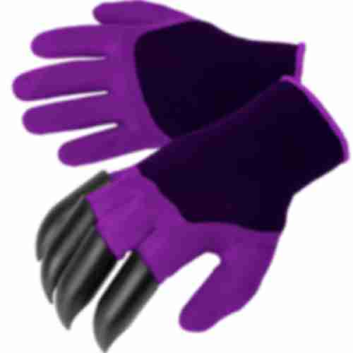Gardening gloves with claws – purple