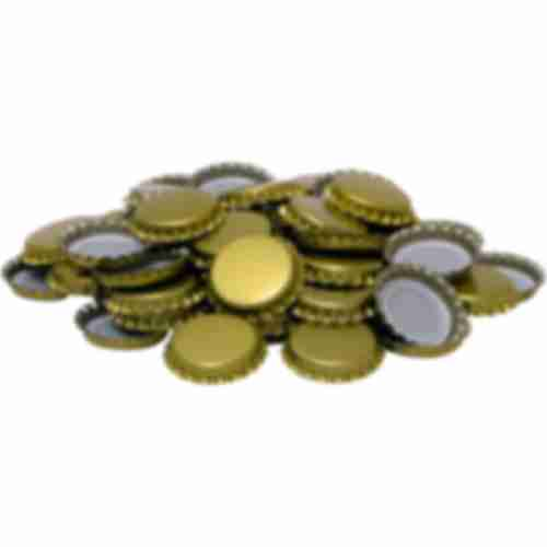 Gold bottle cap fi 26 - 100 pcs.