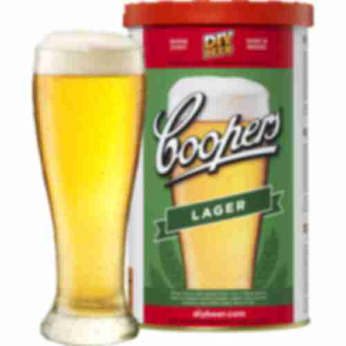 Lager Coopers beer concentrate 1,7kg for 23l of beer