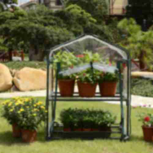 Mini greenhouse with 2 shelves 69x49x95cm