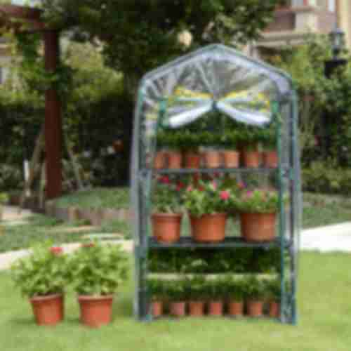 Mini greenhouse with 3 shelves 69x49x125cm