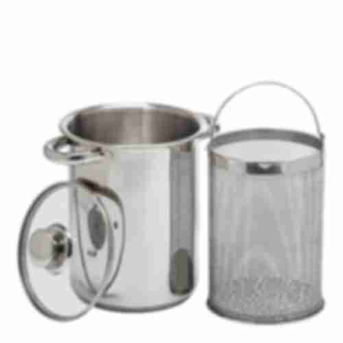 Multifunctional stock pot with basket