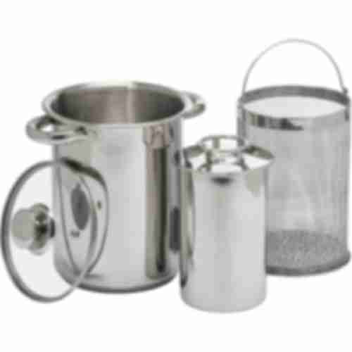 Multifunctional stock pot with basket and pressure ham cooker
