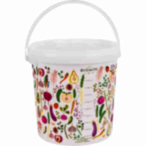 Printed food bucket 10l with habdle and lid