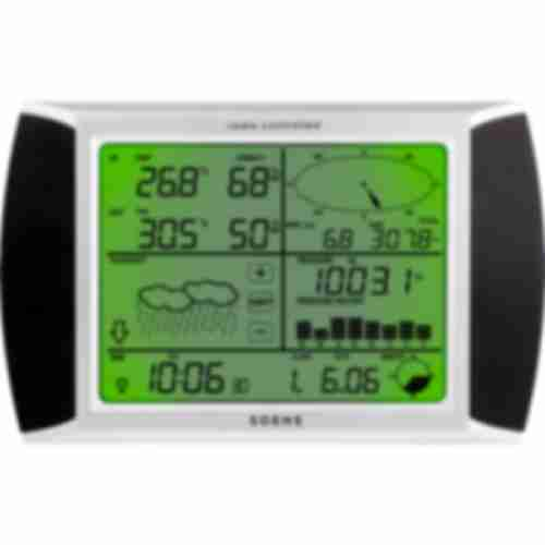 Professional weather station - touchscreen display