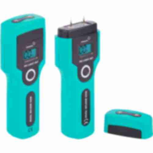 Professional wood moisture meter , turquoise colour