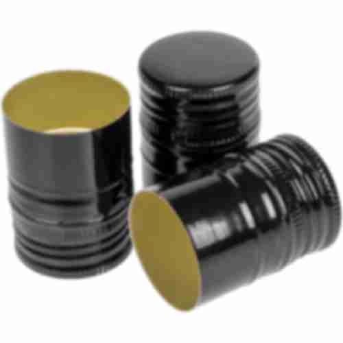 Screw cap Ø31,5/44 6pcs. , black