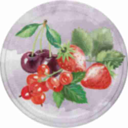 Screw lid Ø 66 - fruit pattern - 10 pcs